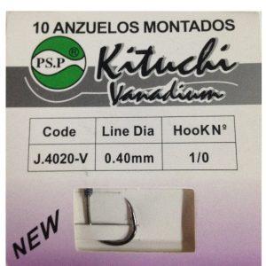 ANZUELOS MONTADOS CURVOS KITUCHI CARBONO